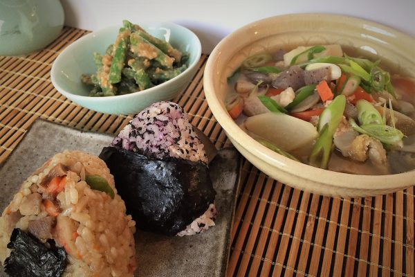 Hearty Pork Miso Soup and Rice Balls for a busy weekday dinner?